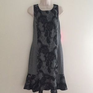 Betsey Johnson Grey + Black Sleeveless Dress